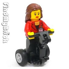 M018A sg Lego Easter Girl Reporter Mary Jane Female Minifigure with Segway NEW