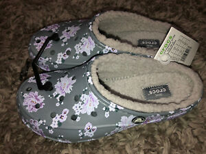 Crocs Freesail Printed Lined Women Clog Floral Size 6 Floral Dual Comfort Nwt