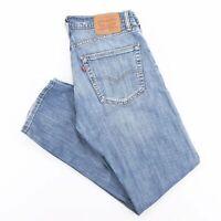 Vintage LEVI'S 505 Stretch Blue Denim Regular Straight Jeans Mens W32 L32