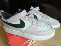 Kid's Nike Court Borough Low 2 Lilac / White /Black UK 12 P.E Trainers Sports
