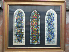Projet de vitraux abstraits. L Gouffault Orleans