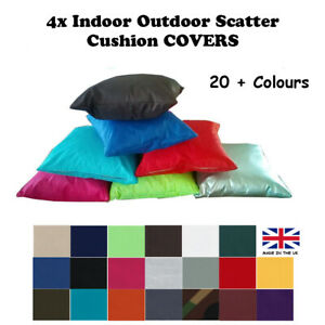 4x COVERS Scatter Cushion Water Resistant INDOOR OUTDOOR Garden Bench Seat Couch