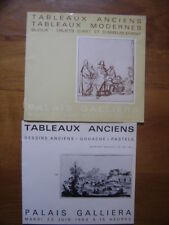 Catalogue de Vente aux Encheres 1964 BIJOUX DESSINS TABLEAUX Palais Galliera