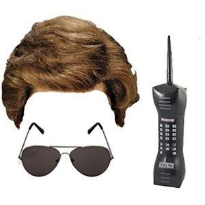 80's Retro George Michael Wham! Men's Fancy Dress Costume Wig, Phone & Glases
