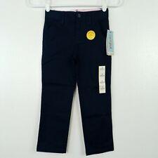 Cat & Jack Girls Pants School Uniform Size 5 Straight Adjustable Waist Blue