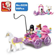 Sluban B0239 Pink Dream Princess Horse Carriage Girl Mini Building Blocks Toy