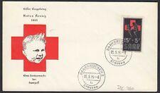 Germany - Saarland Michel Nr.360 FDC red cross Rotes Kreuz 1955   (20546