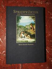 Sprichwörter und Volksweisheiten  Edition Deutsche Hausbücher