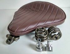 Large Solo Seat Heavy Duty Full Kit Brown & Bronze Harley Chopper Bobber Trike