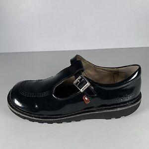 Kickers Girls Shoes Strap Black Size UK 4