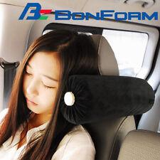Car Seat Adjustable Headrest Sleep Pillow Black