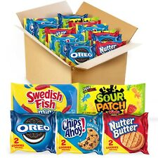 Oreo, Chips Ahoy!, Sour Patch Kids, Swedish Fish Cookies Candy Variety Pack 40ct