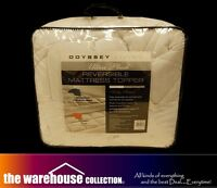 RRP$300 Odyssey Reversible Queen Mattress Topper Pillowtop Protector 850GSM New