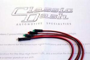 Classic Dash LED Indicator /Warning Lights for AutoMeter Gauges 500626