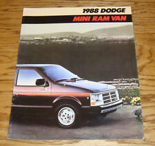 Original 1988 Dodge Mini Ram Van Deluxe Sales Brochure 88