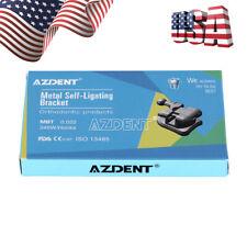 AZDENT Dental Orthodontic Brackets Self Ligating Braces Mini MBT.022 Hooks 345