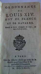 Ordonnance de Louis XIV. Roy de France et de Navarre. 1723