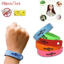 10PCS Bracelet Anti Mosquito Mozzie Insect Bugs Repellent Repeller Wrist Bands