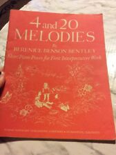 4 And 20 MElodies by Berenice Benson Bentley short piano pieces Sheet Music book
