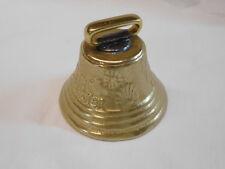 """Solid Brass Swiss Cow Bell 3 1/4"""" 65-4461 Weaver"""