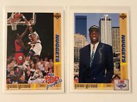 DIKEMBE MUTOMBO 1991-1992 UPPER DECK ROOKIE CARDS - LOT OF 2 CARDS
