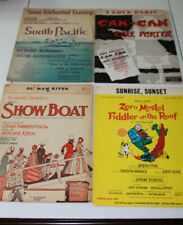 piano sheet music for show boat, Can-Can, Some Enchanted Evening, Sunrise sunset