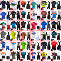 Mens Cycling Jersey Bib Shorts Set 2021 Summer Short Sleeve Team Bicycle Outfits