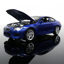 BMW M6 Metal Diecast 1:32 Model Car Toy Sound&Light Pullback Collection blue