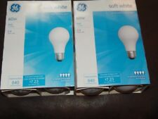 (2) 4 Pack GE 60 Watt Soft White Incandescent Light Bulbs  FREE SHIP   (RM-2)