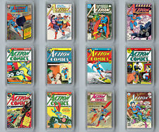 ACTION COMICS SET OF 12 FRIDGE MAGNET IMANES NEVERA