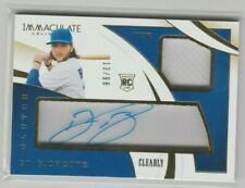 2020 Immaculate Collection Clearly Clutch Bo Bichette Rookie JERSEY 13/98 AUTO