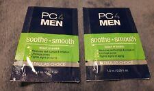 (2) PC4MEN SOOTHE + SMOOTH AFTER SHAVE TREATMENT .05 FL OZ. BIRCHBOX MAN