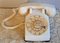 Western Electric Bell System Rotary Dial Telephone VTG 500 Series Phone In White