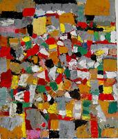 ALEXANDRE PONS/Abstrait contemporain pièce unique format 55 X 46 CM