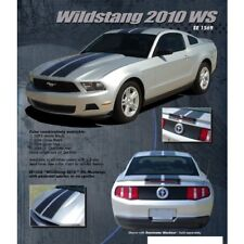 Ford Mustang 2010-2012 Wildstang Dual Stripe Graphic Kit - Gloss Black