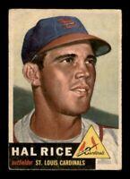 1953 Topps Set Break # 93 Hal Rice GD Creases *OBGcards*