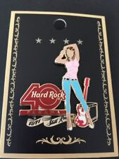 Hard Rock Cafe 2011 Panama 40th Anniversary Decades of Rock Girl Series Pin Pink