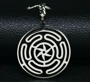 Hekate Wheel Strophalos Witchcraft Hecate Magic Symbol Keychain Stainless Steel