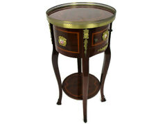 Marquetry Nightstand  Table Hall Cabinet Pedestal Medallions French Empire WOW