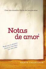 NOTAS DE AMOR / LOVE NOTES - CALLAGHAN, GARTH - NEW BOOK