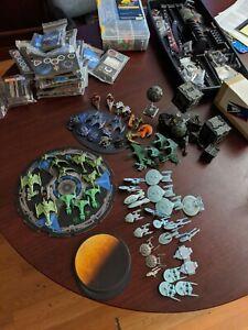 Star Trek Attack Wing huge lot of ships and materials 71 ships
