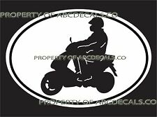 OVAL MOTORCYCLE Bike Scooter Vespa Electric Gas Moped Car Decal Wall Sticker