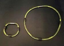 Nikken Kenko PowerBand Neck Magnetic Sports Necklace & Bracelet Set RARE GREEN