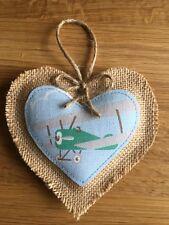 Coeur Décoration Cath Kidston vintage avions Handmade suspendu vert