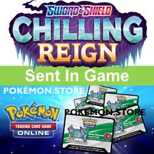 50 Chilling Reign códigos Sword Shield Pokemon Booster ptcgo enviado dentro del juego en línea