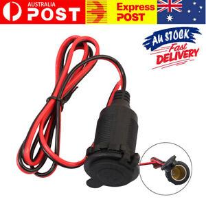 12V Car Cigarette-Lighter Charger Cable Female Socket Plug Connector Adapter AU