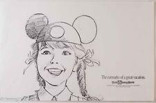 Walt Disney World Original Illustrator Artist Proof Commercial Advertisement 1/5