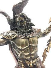 """LARGE Zeus holding Thunderbolt W Eagle 20"""" Statue Sculpture figurine Mythology"""