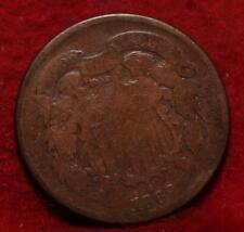 1869 Copper Philadelphia Mint Two Cent Coin