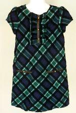 Janie & Jack Green Navy Blue Equestrian Dress Sz 6 Girls NWT New Bias Plaid